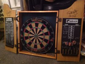 DART BOARD - PHILL POWER TAYLOR WITH DARTS AND CASING BARGAIN £10 BE QUICK