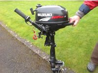 Outboard engine Suzuki 2.5 Four stroke. Little used . Very Good condition . Cosmetic wear only.