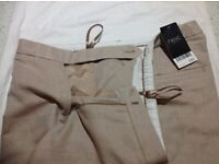 Ladies linen wide leg trousers. From Next. Size 18 long. Never worn. Label attached.