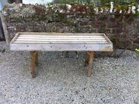 Large wooden potting/display bench