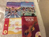 Violin books with CDs