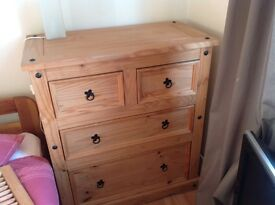 Chest of drawers, modern pine