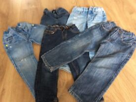 5 pairs of boys jeans - age 4-5