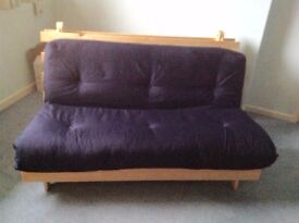 Hardly used double futon sofa bed for sale