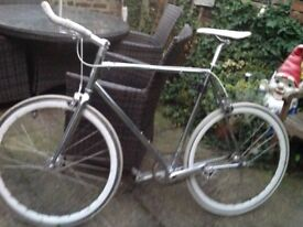 Sliver STATE Bicycle good condition hardly use Cosr £350 will accept £100