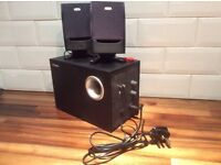 LABTEC Pulse 475 multimedia sub woofer and 2 speakers