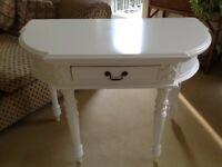 Solid Off White Console Table