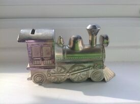 Silver Plated Steam Train Money Box