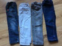 Bundle of boys skinny/slim jeans age 2-3