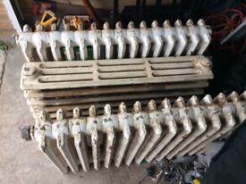 3 cast iron radiators untested