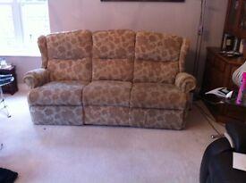 Sherborne manual recliner three seater sofa