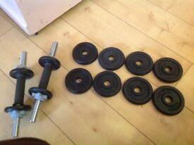 York hand weights set