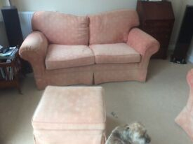 Large and medium Multiyork sofas terracotta colour about 15 years old, good condition