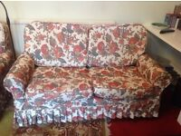 Comfy three piece suite in very good condition