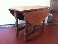 Restored Vintage Characterful Coffee or Drop Leaf Gate Leg Occassional Table / Can Deliver
