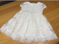 Girls ivory lace dress, from Next, age 4 years