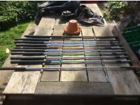 Old set of 10 golf clubs