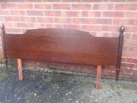 Stag minstrel double headboard mahogany Good condition t