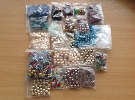 Mixed beads - Swarovski pearls and crackle glass and many more