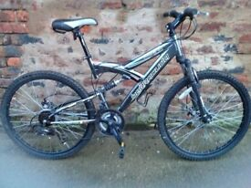 Barracuda pheonix Mens full suspension mountain bike. *postage available