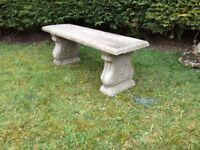 A lovely garden concrete bench £35