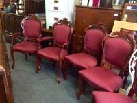 Vintage Italian table & 6 chairs