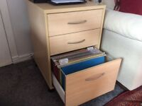 Quality filing cabinet with three drawers, one for hanging files
