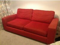 Marks and Spencer 3- seater red sofa for sale, good condition and very comfortable