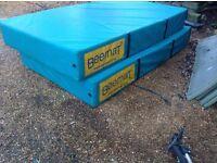 "X2 Beemat Crash Mats 8ftx4ft 5""x1ft - Gym Mat, Cricket Dive Mat, Parcour Mat, £100 ea or 2for £180"