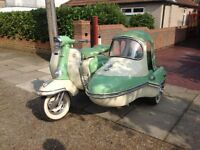 Lambretta TV175 Seres 2 And Sidecar
