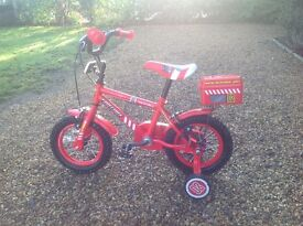 "Boys 12"" wheel ""Fire Bike"""
