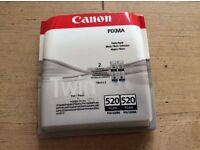 Double pack Canon PIXMA 520PGBK (black) ink cartridges