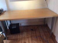IKEA desk/table birch veneer.