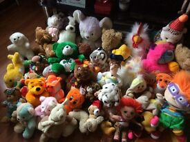 Over 70 cuddly toys immaculate