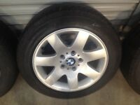 BMW 3 series wheels and tyres 205-55-16 good condition