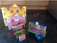 Peppa pig 6-in-1 playhouse plus school house and play area