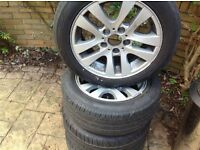 """BMW 16 """" alloy wheels with very good run flat tyres on"""
