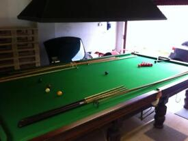 Full size snooker table in great condition with lots of extras. Genuine offers considered