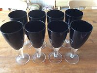 BLACK WINE GLASSES
