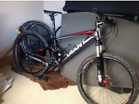 Mountain bike, Giant Anthem X Advanced SL1, full suspension 2011 size small