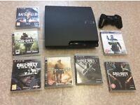 Playstation 3 320gb, 8 games, boxed