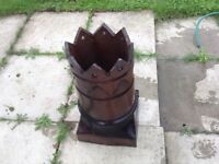 crown top chimney pots glazed two
