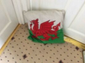 welsh dragon cushions..embroded dragon