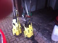 2 Karcher K4 Pressure washers with accessories