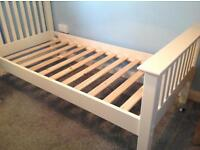 Brand New Barcelona Solid Stone Single Bed Frame in Warm Stone (White) colour £100
