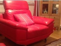 Red Leather Armchair