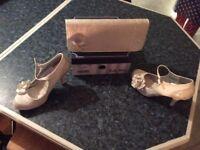Wedding shoes an bag