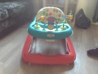 Baby walker with toys on top nice bright colours good condition only & £8
