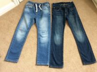 2 pairs of boys Gap Jeans age 8-9. Immaculate, dark pair unworn