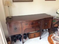 Dining Room Table, Six Chairs and Sideboard